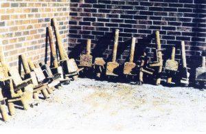 Failed foundation piers.
