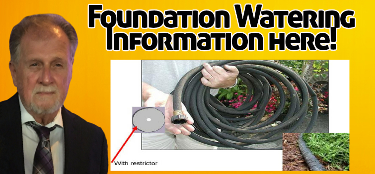 Foundation watering foundation repair consultant soaker hose use foundation watering solutioingenieria Gallery