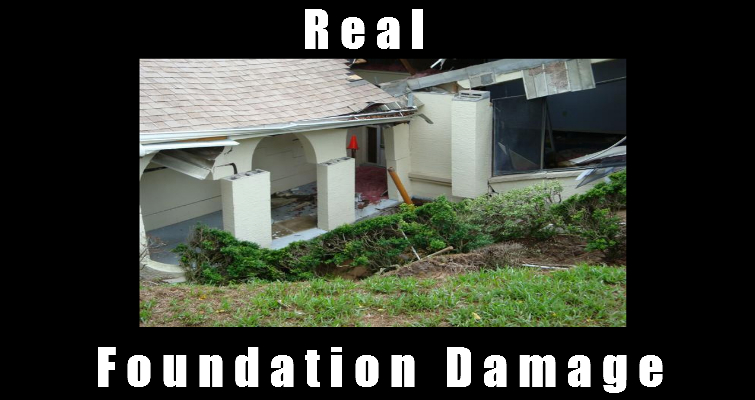 Foundation damage due to sinkhole